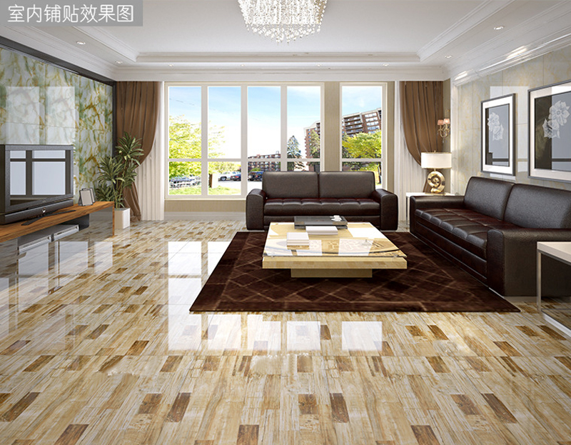 Foshan Ceramic Tile 800x800 Imitation Marble Floor Tiles Living Room Wall 100m2 Tiles Gold