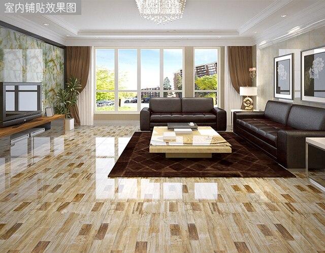 Foshan Keramik 800x800 Marmer Imitasi Ubin Lantai Ruang Tamu Dinding Mengkilap Emas 100m2