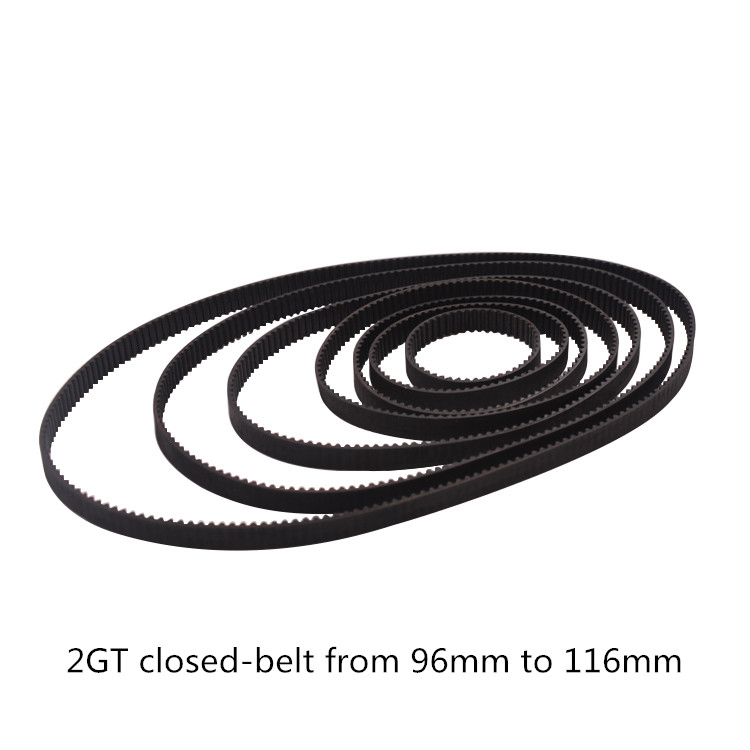 3D printer belt GT2 closed loop rubber 2GT timing 96 98 <font><b>100</b></font> 102 104 106 108 <font><b>110</b></font> 112 114 116 Length 96mm 98mm 116mm image