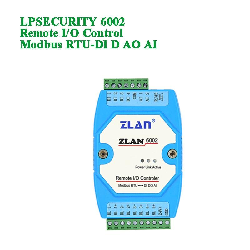 Remote I/O Controller RS485 Transmission I/o Module Modbus RTU DI DO AI Digital Input Output Analog Remote Switch ZLAN6002