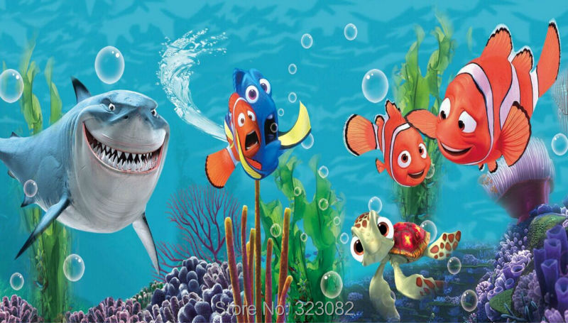 High Quality L2 00140 Finding Nemo Cartoon Home Decoration Children Wallpaper 3D Non  Woven Wall Mural For Kids Room In Wallpapers From Home Improvement On  Aliexpress.com ... Part 15