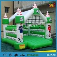 Коммерческие ПВХ спорт футбол надувной замок boucer для продажи