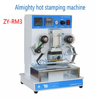 220V/110V Hot bronzing machine ZY-RM3 Almighty hot stamping machine Hot stamping word machine Content can be changed 1pc
