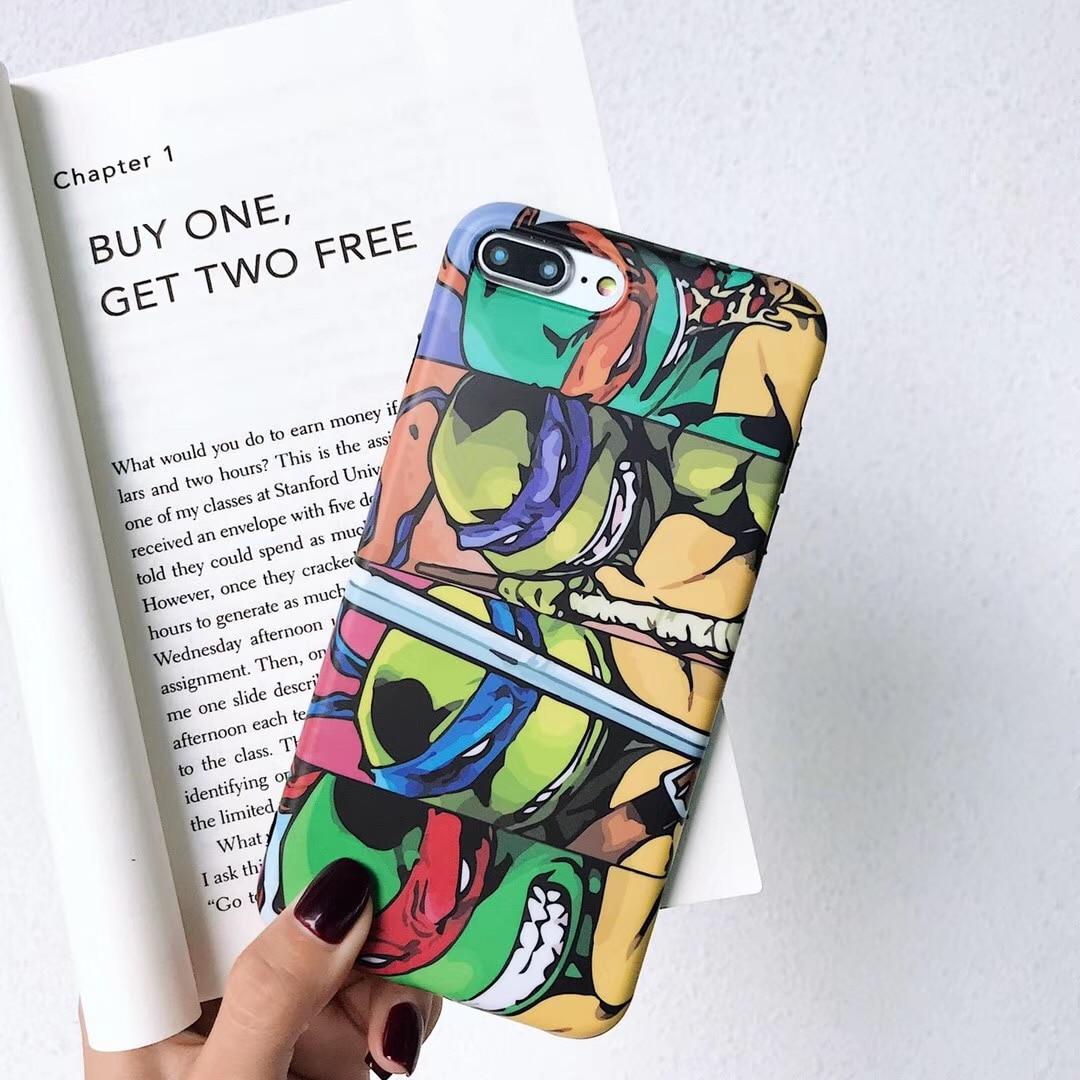 ea96f251586 Anime fashion cartoon Ninja turtle phone shell for iPhone XR XS MAX 7 8 6S  6Plus