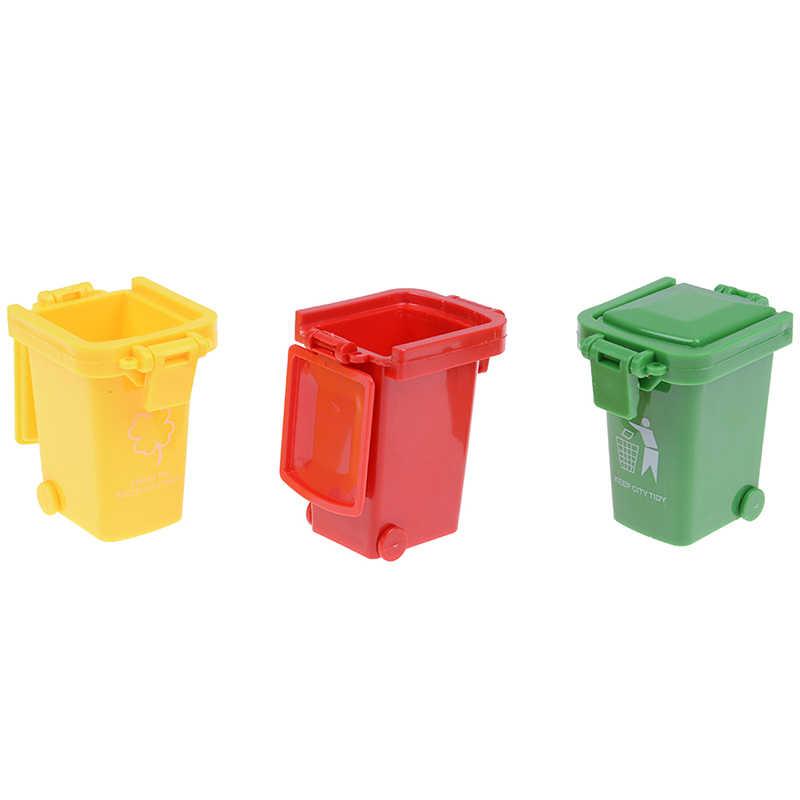 3 шт./упак., креативные игрушки, мусорное ведро, игрушки мусоровоз, банки, мини-мусорная корзина для автомобиля, игрушки высокого качества