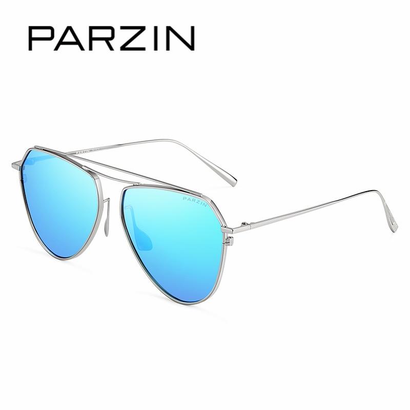 PARZIN Marke Vintage Pilot Sonnenbrille Qualität Luxus Legierung Rahmen Gläser Polarisierte Sonnenbrille Für Fahrer Sommer Zubehör 9735 - 5