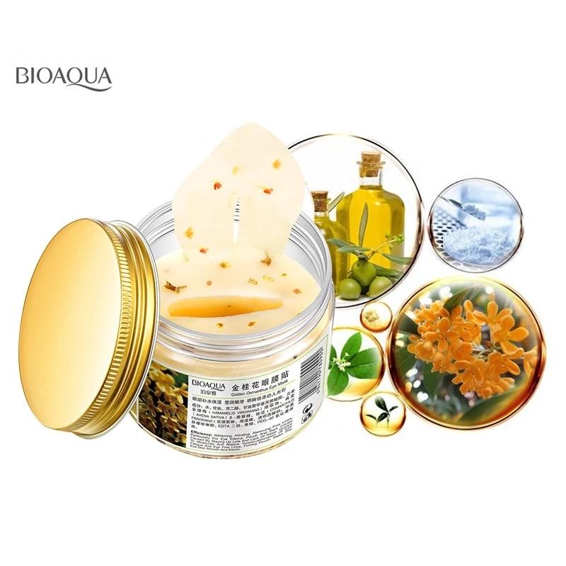 BIOAQUA Gold Osmanthus Eye Mask for Eye Care 80pcs Anti Puffiness Moisturizing Sleeping Patche Remover Dark