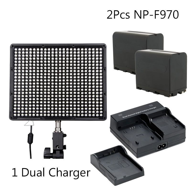 Aputure AL-528W 528 LED Video Light Panels for Camcorder DSLR Cameras +2pcs NP-F970 aputure vs 1 7 v screen digital video monitor for dslr cameras eu plug