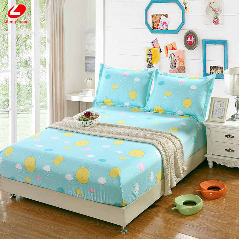Home textile bed sheet sheet flower mattress cover printing bed sheet elastic rubber bedclothes 180*200cm summer bedspread band 31