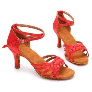 Image 5 - New Latin Dance Shoes for Women Girls Ladies Ballroom tango salsa Professional dance Shoes for women dancing shoes Wholesale