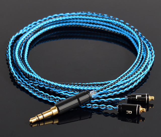 Hand Made DIY Updated 8 Cores 6N Copper Plated Silver MMCX Headset ...