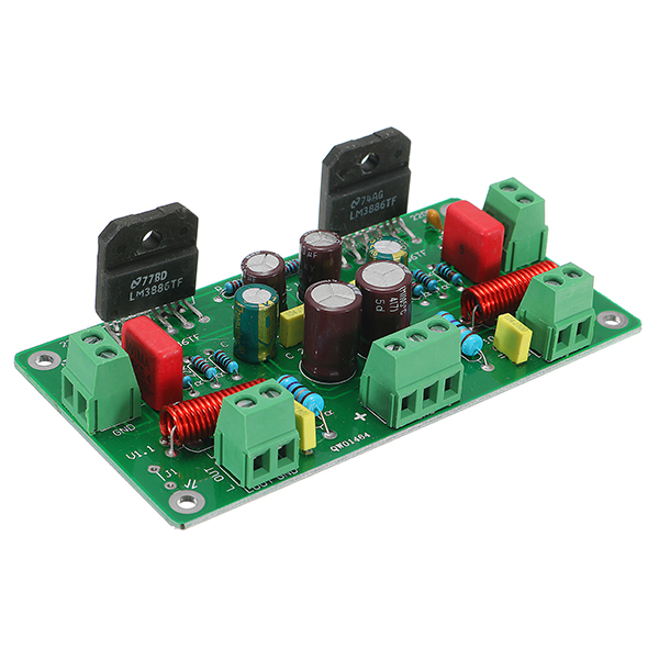 LM3886 Assembled 50W*2 HiFi TF Stereo Amplifier  AMP Board 68W+68W 4ohm 38W 8ohm High Quantity