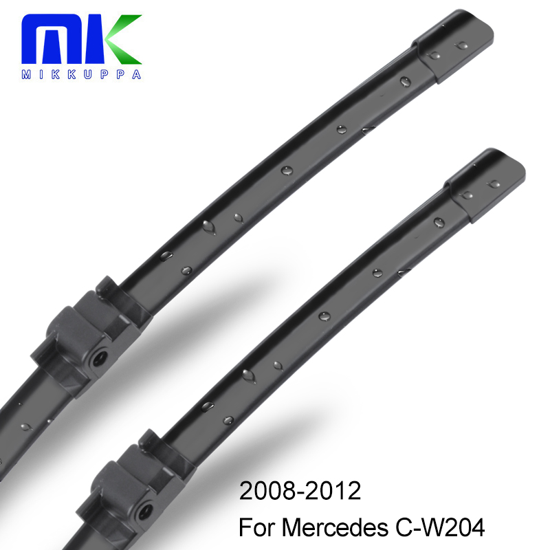 Front And Rear Wiper Blades For Mercedes Benz C W204 2008 2009 2010 2011 2012 Windshield Windscreen Wipers Auto Car Accessories