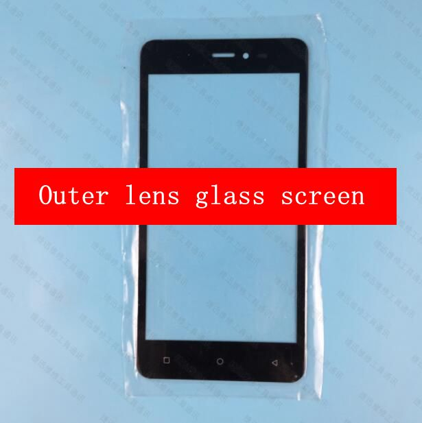 GOALHALO For Blu Studio M HD S110L S110U Front Glass Outer Lens Glass screen replacement black free shipping