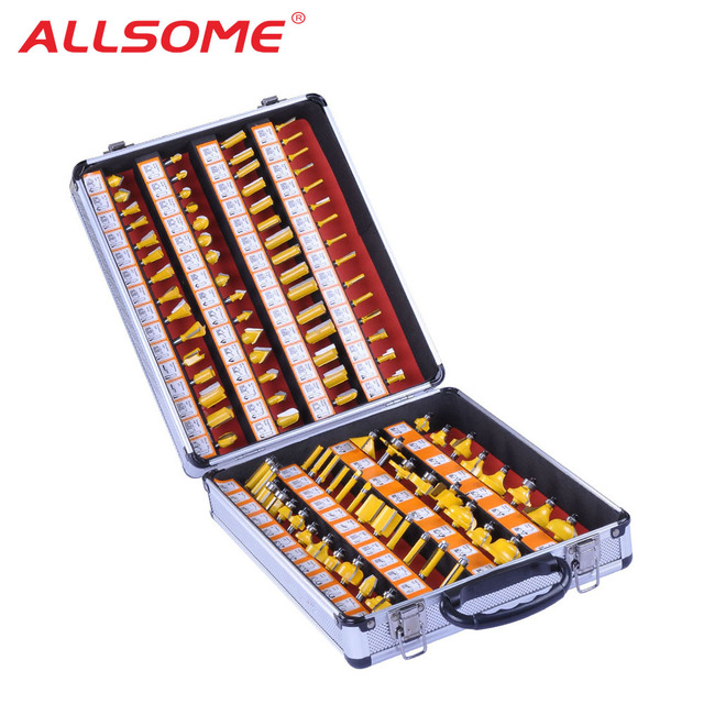 ALLSOME 100PCS 1/4 Inch Shank Tungsten Carbide Router Bit Woodworking Milling Cutter HT1192