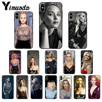 Yinuoda Jennifer Lawrence Customer High Quality Phone Case for iPhone 8 7 6 6S Plus 5 5S SE XR X XS MAX Coque Shell image