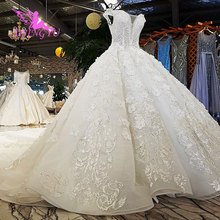 AIJINGYU Wedding Dress Big Size Rose Gowns Angel Train Simple Couture Real Photo Chinese Marriage Gown