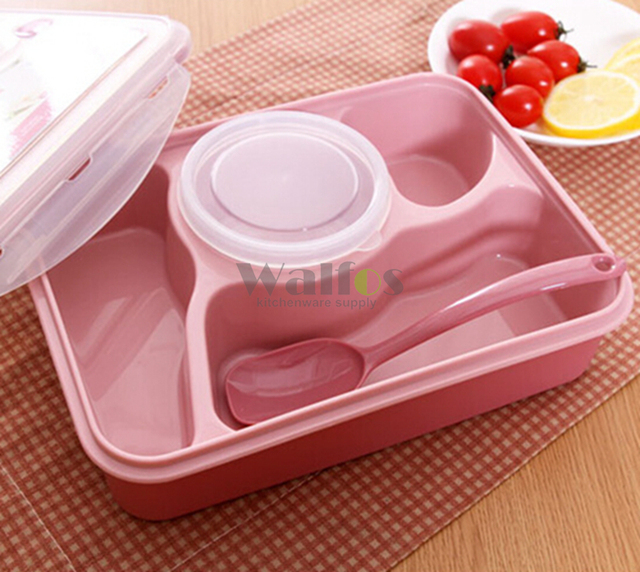 Lunch Box Kids Food Container Soup Cup Spoon Microwaveable Disposable Tableware Bento Lancheira Dinnerware Set