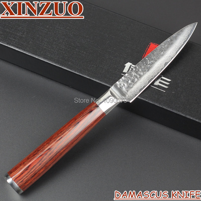 2015HOT 73 layers 3 5 fruit font b knife b font Japanese Damascus steel kitchen paring