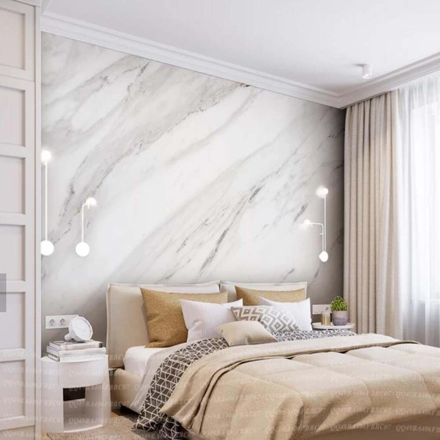 Marble Decoration: European Abstract Grey Marble Mural Decoration Mural Papel