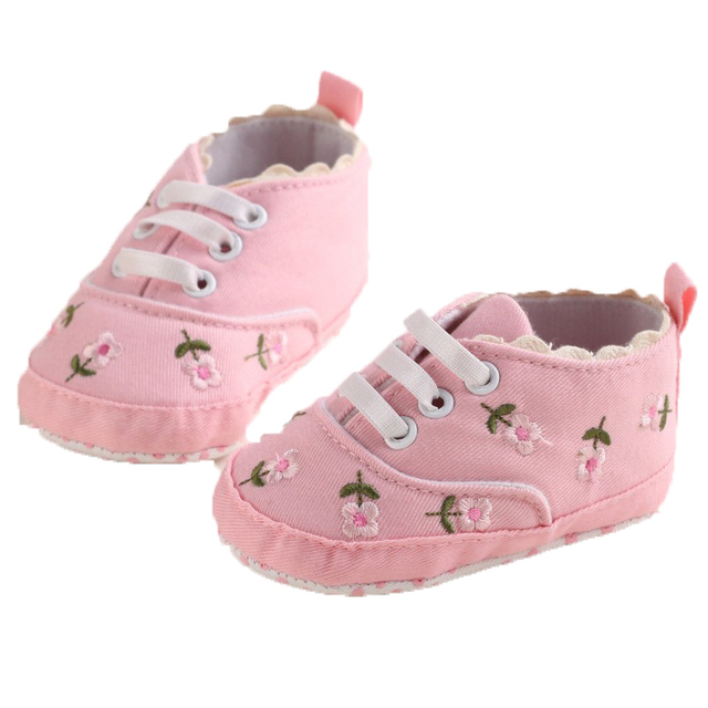 0-18 Months First Walkers Toddler Kid Baby Girl Floral Embroidered Soft Shoes For Newborn Walking Shoes  4