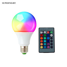 9W E27 RGB LED Light Bulb with 24 Keys Remote Control 16 Static Colors 4 Modes Memory Dimmable LED Lamp Bulb for Home Decoration bokit 9w e27 led rgb light colorful bulb lamp remote control