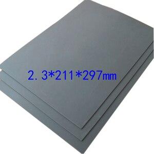 Image 4 - 1 pc A4 אפור לייזר גומי גיליון לעמוד שמן שחיקה מדויק חריטת הדפסת אוטם חותמת 297x211x2.3mm