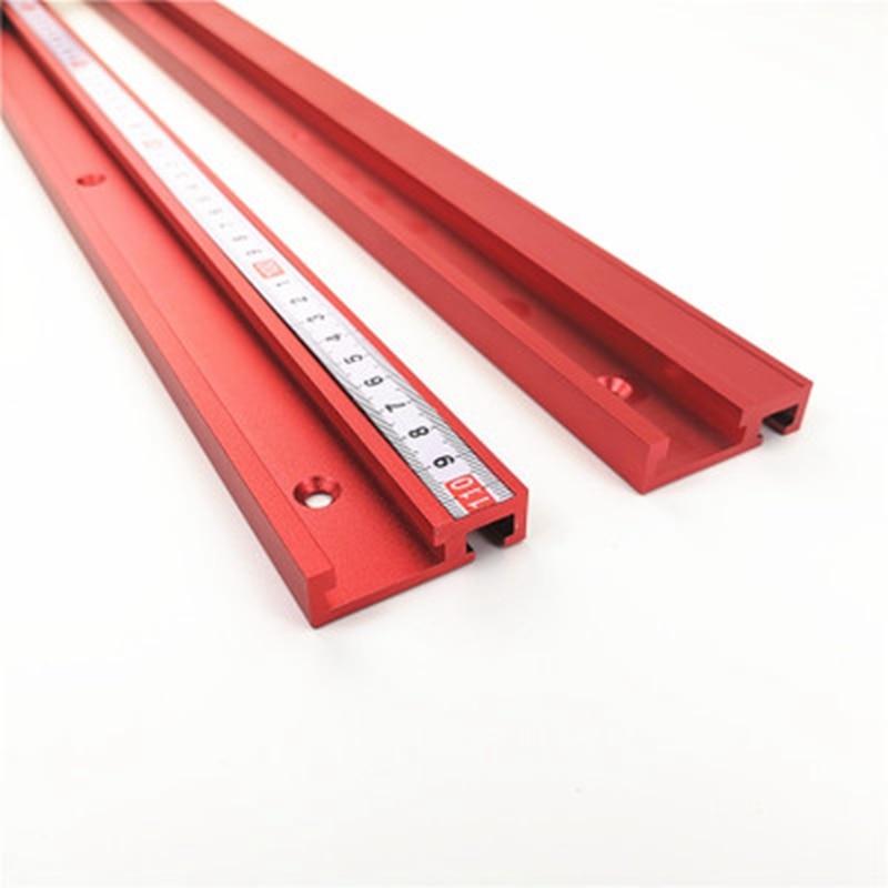 40 cm/60 cm/80 cm Vermelho Padrão Liga T-track Para Trabalhar Madeira DIY T-slot Mitra track/Slot Para Jig Fixação da Tabela do Router (sem escala)