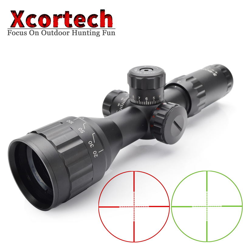 Tactical Hunting 3 9X32 AOIR Riflescope Red Green Mil Dot Illuminated Wire Reticle Optics Sight Rifle