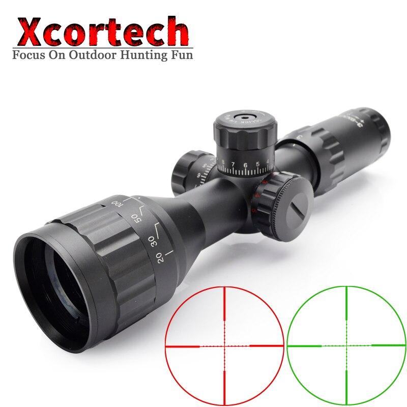 Tactique chasse 3-9X32 AOIR lunette de visée rouge et vert Mil Dot illuminé fil réticule optique viseur portée de fusil