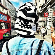 New hot eyes are inlaid with black and white pattern all-match Street sport baseball cap hat BQ85
