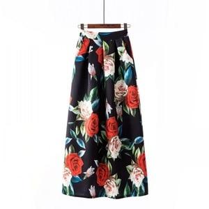 Image 2 - Surmiitro ארוך מקסי בתוספת גודל חצאית נשים 2019 אביב קיץ בציר אינדי פולק הדפסת אונליין גדול גדול גבוהה מותן חצאית נקבה