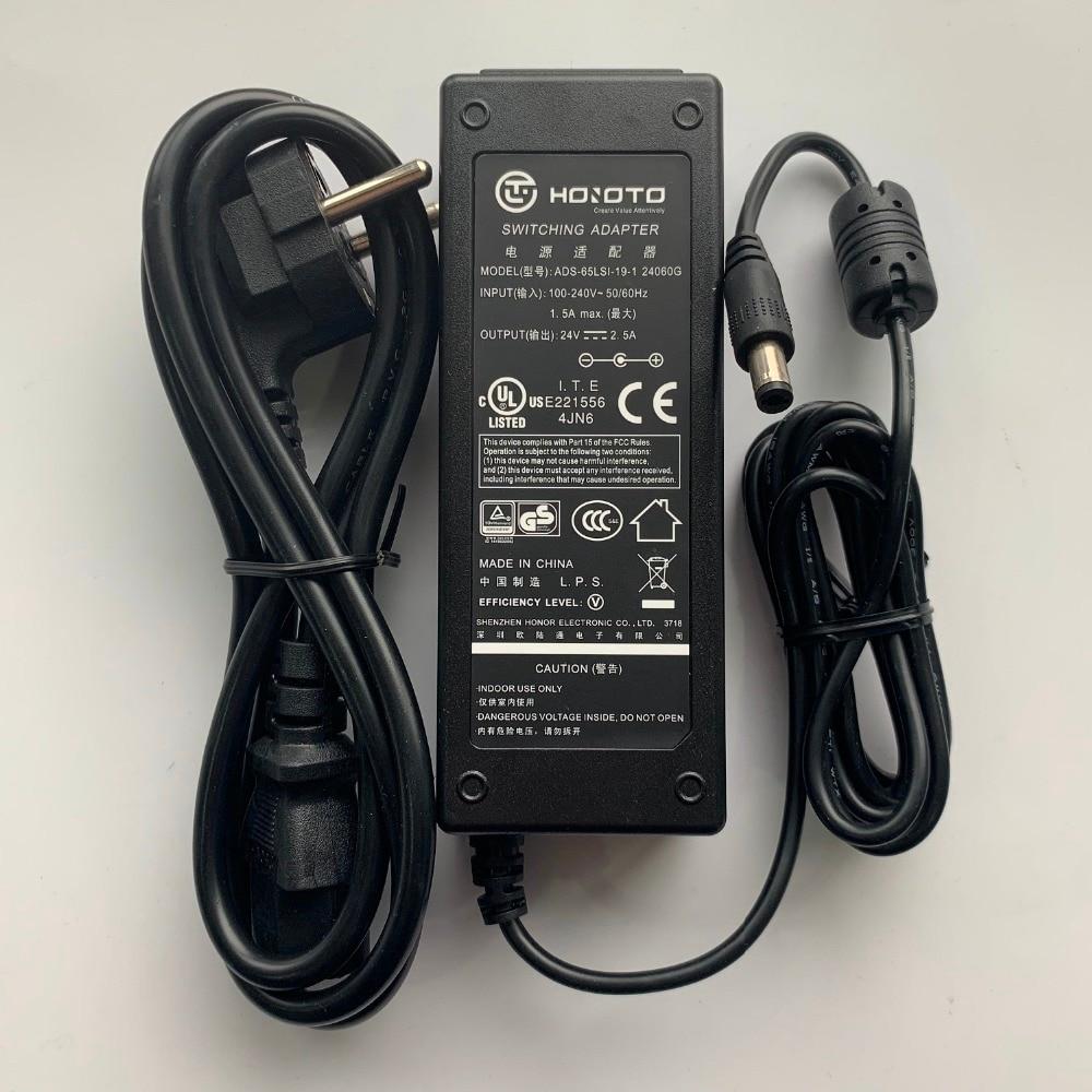HOIOTO POWER Adapter  24V 2.5A  ADS-65LSI-19-1 24060G For VTNS1060A  VTNC3000A  DS-KAD606-N