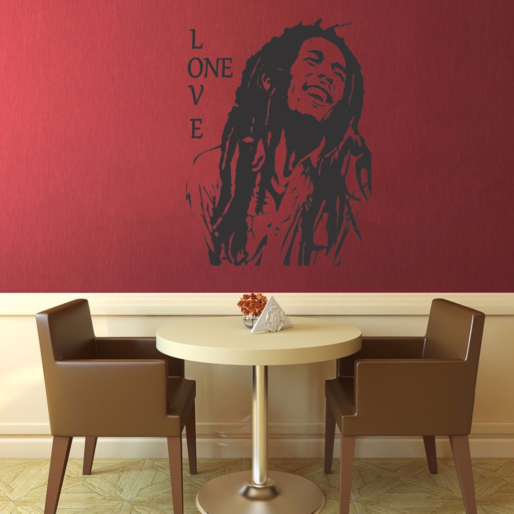 Aliexpress Bob Marley Reggae Rasta Jamaica Large Vinyl Transfer Stencil Decal Sticker Wall Art Home Room Decorative S M L 80 Colors From Reliable