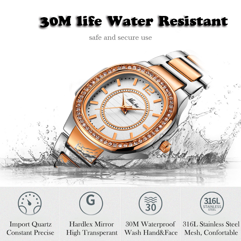 Image 4 - MISSFOX Rose Gold Watch Women Quartz Watches Ladies Top Brand Luxury Stainless Steel Female Wrist Watch Girl Golden Clock Hours-in Women's Watches from Watches
