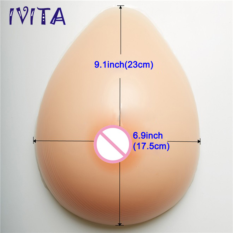 IVITA 3200g Teardrop Silicone Big Crossdresser Boobs Enhancer Forms Drag Queen Breast Soft Sexy