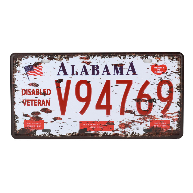 California Wall Number Poster Vintage Home Decor New York Tin Sign USA Car Plate Nevada Metal License Plaque Oregon 15X30CM C20 in Plaques Signs from Home Garden