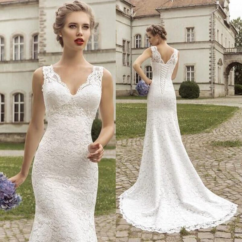 87d445860541a Mermaid Wedding Dresses White Lace Vestido De Noiva Curto Bride Dresses  Casual Simple China Wedding Dresses-in Wedding Dresses from Weddings &  Events on ...
