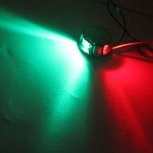 Image 5 - 12V Морская Лодка Яхта светодиодная навигационная лампа из нержавеющей стали ITC двухцветная сигнальная лампа красный зеленый порт правосторонний свет