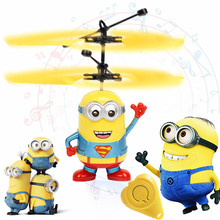 Minion Fly Flashing helicopter Hand Control RC Toys