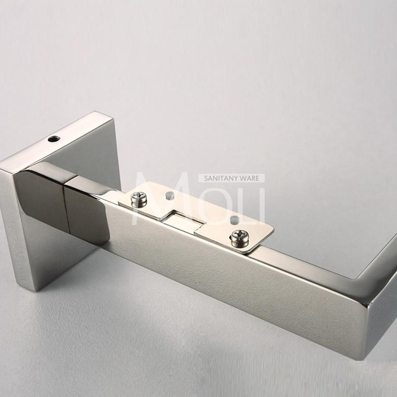 Accessori Per Mensole In Vetro.Bagno Mensola Di Vetro Quadrato In Acciaio Inox Lucido Accessori