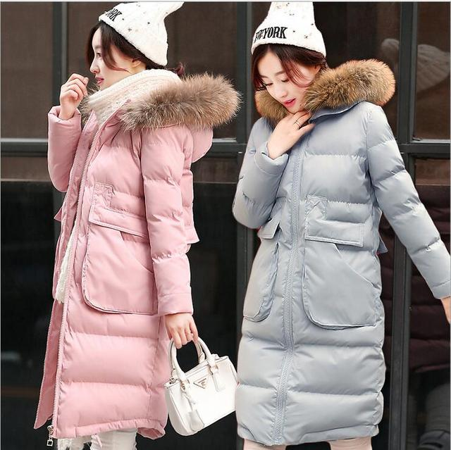 2016 New arrival mulheres jaqueta mulheres casaco de inverno roupas de Médio-Longo Para Baixo casaco fino Acolchoado Jaqueta feminina quente Bom qualidade