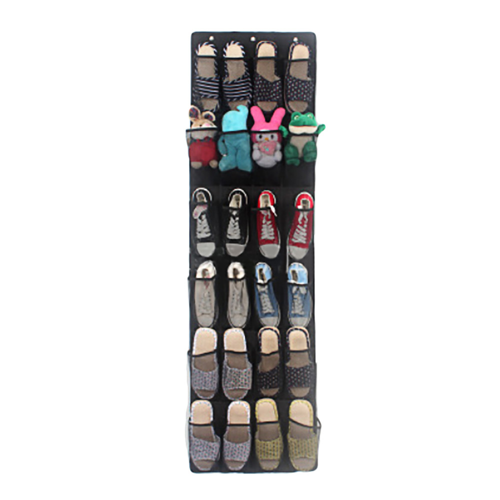 24Pocket Hanging Shoe Organizer Mounted on for Household Use to Save Space at Home 7