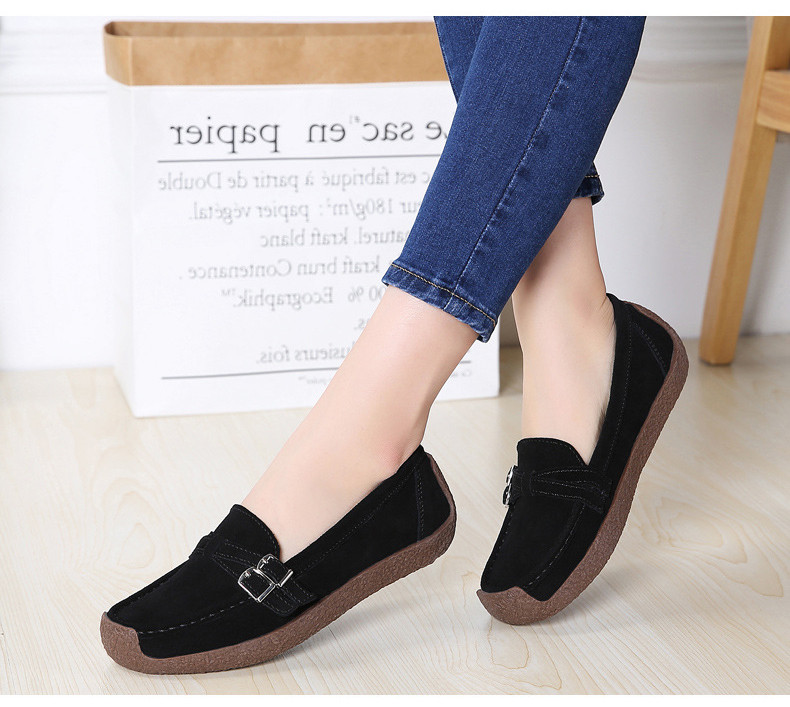 HX 7732-2019 Spring Autumn New Arrival Genuine Leather Women Flats Shoe-15