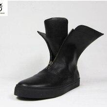 FR. LANCELOT/Новинка года; качественные мужские кожаные ботинки в британском стиле; мужские зимние ботинки на двойной молнии; mujer bota; ботинки челси