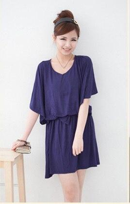Emotion Moms модная свободная одежда для кормящих мам платья для будущих и кормящих мам для беременных женщин кормление грудью одежда - Цвет: Синий