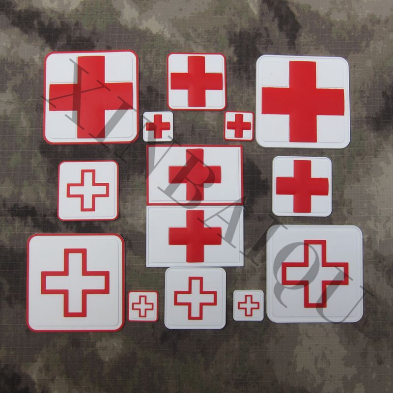 Orderly Pvc Patch The Red Cross Tactical Medical Badges Soft Shell Outdoor Military Tactical Hook On Music Memorabilia