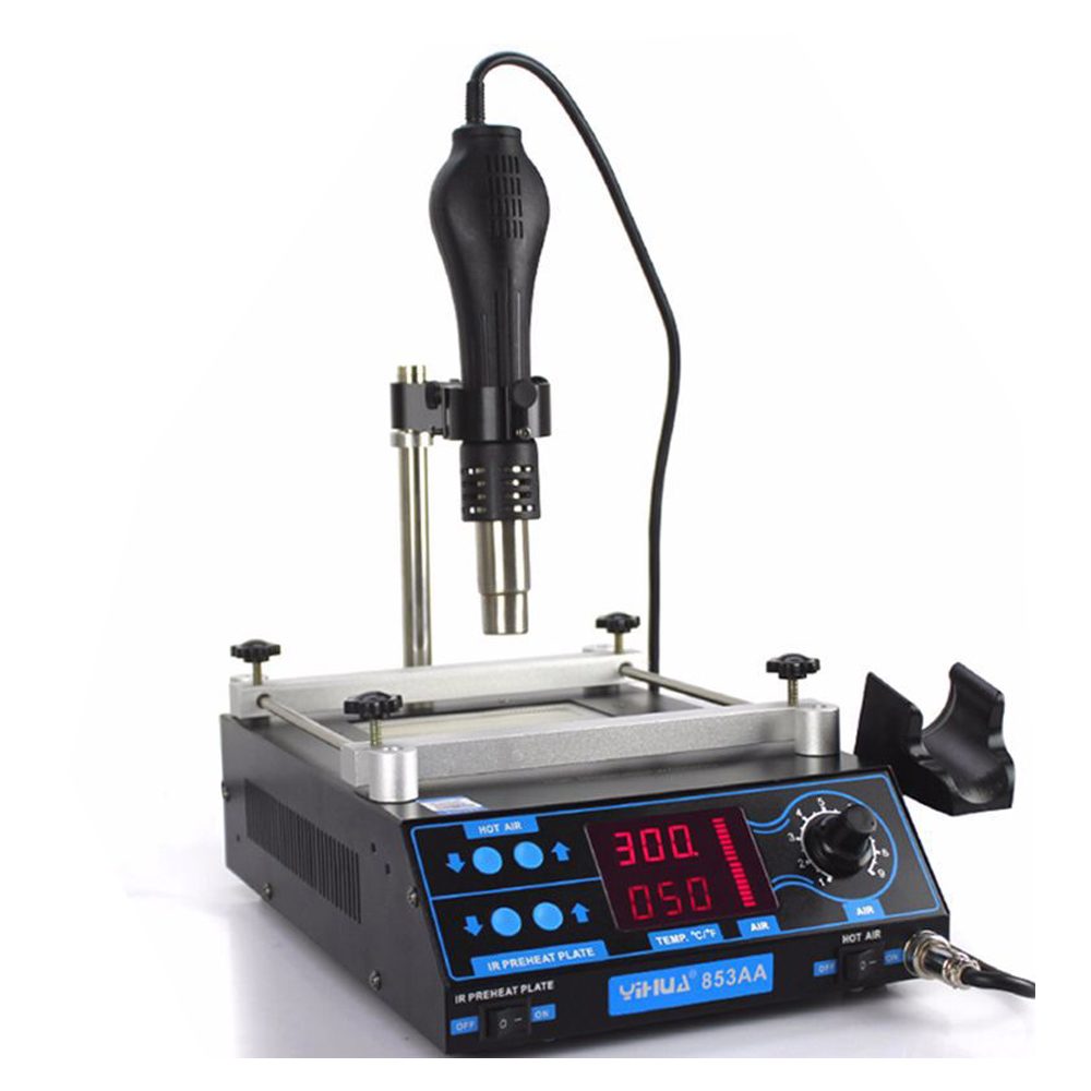 BGA Rework Station PCB Preheat And Desoldering IR Preheating Station Air Soldering Station LCD Adjustable Electronic Hot Air Gun saike 858 hot air gun rework station heat gun desoldering station
