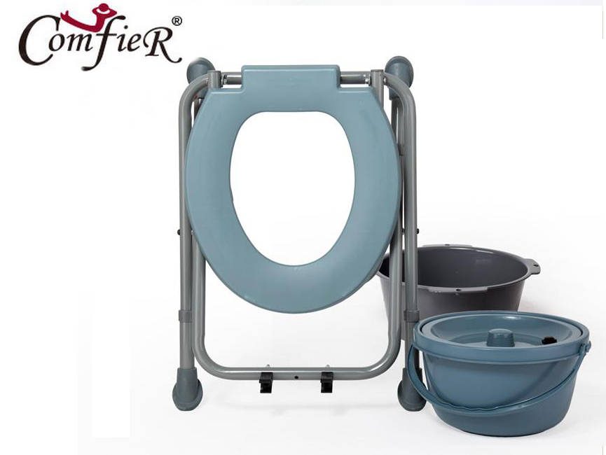 Simple sit chair in the elderly pregnant women increased commode chair crouch stool crouch hole bench with adjustable high stool mds89664h steel bedside commode