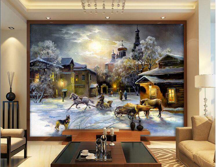 D behang custom muurschildering non woven kamer muursticker land